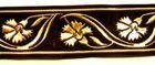 10m Mittelalter Borte Webband 16mm breit Farbe: Schwarz-Gold