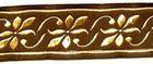 10m Mittelalter Borte Webband 16mm Farbe: braun-Gold
