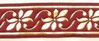 10m Mittelalter Borte Webband 16mm breit Farbe: Bordeaux-Gold