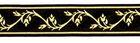 10m Jacquard Borte Webband 16mm breit Farbe: Schwarz-Gold