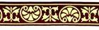 10m Jacquard Borte Stoffborte 16mm Farbe: Braun-Gold