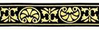 10m Jacquard Borte Stoffborte 16mm Farbe: Schwarz-Gold