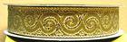 10m Jacquard Borte Webband Stoff 16mm breit Farbe: Lurex-Gold