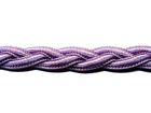 1m geflochtene Borte 1cm breit AA172-10 Farbe: Violett hell