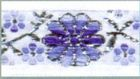 10m Mittelalter Borte Webband 16mm Farbe: Weiss-Blau-Silber