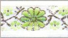 10m Mittelalter Borte Webband 16mm Farbe: Weiss-Grün-Silber