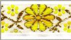 10m Mittelalter Borte Webband 16mm breit Farbe: Weiss-Gelb-Gold