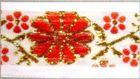10m Mittelalter Borte Webband 16mm breit Farbe: Weiss-Rot-Gold