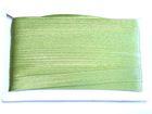 32m Satinschrägband 15mm breit 3-fach gefalzt Farbe: Grasgrün