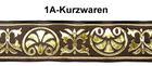 10m Mittelalter Borte Webband 35mm breit Farbe: Mittelbraun-Gold