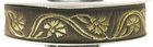 10m Mittelalter Borte Webband 16mm breit Farbe: Mittelbraun-Gold