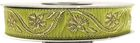 10m Mittelalter Borte Webband 16mm breit Farbe: Hellgrün-Gold