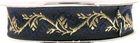10m Jacquard Borte Webband 16mm breit Farbe: Dunkelblau-Gold