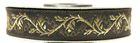 10m Jacquard Borte Webband 16mm breit Farbe: Mittelbraun-Gold