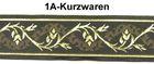 10m Mittelalter Borte Webband 50mm breit Farbe: Mittelbraun-Gold
