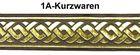10m Mittelalter Borte Webband 70mm breit Farbe Mittelbraun-Gold