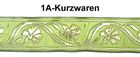 10m Mittelalter Borte Webband 50mm breit Farbe: Hellgrün-Gold
