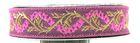 10m Jacquard Borte Webband 16mm breit Farbe: Pink-Gold