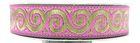 10m Jacquard Borte Webband Stoff 16mm breit Farbe: Pink-Gold