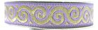 10m Jacquard Borte Webband Stoff 16mm breit Farbe: Lila-Gold