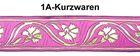 10m Mittelalter Borte Webband 35mm breit Farbe: Pink/gold
