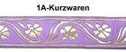 10m Mittelalter Borte Webband 35mm breit Farbe: Lila/gold
