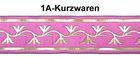 10m Mittelalter Borte Webband 35mm breit Farbe: Pink-Gold