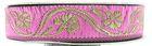 10m Mittelalter Borte Webband 16mm breit Farbe: Pink-Gold