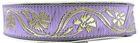 10m Mittelalter Borte Webband 16mm breit Farbe: Lila-Gold