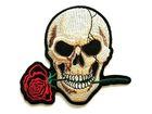 Applikation Sticker Patch Totenkopf zum Aufbügeln 11 x 10cm