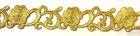 1m Goldbortenapplikation 27mm breit Farbe: Gold
