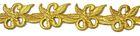 1m Goldbortenapplikation 30mm breit Farbe: Gold