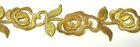 4m Goldbortenapplikation 35mm zum Aufbügeln Farbe: Gold