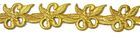 4m Goldbortenapplikation 30mm zum Aufbügeln Farbe: Gold