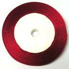 10 Rollen a 22,75m Satinband 6mm breit Farbe: Rot