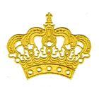 Applikation Krone zum Aufbügeln 11,5 x 9,5cm Farbe: Lurex-Gold
