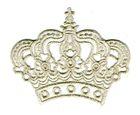 Applikation Krone zum Aufbügeln 11,5 x 9,5cm Farbe: Lurex-Silber