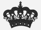 Applikation Krone zum Aufbügeln Farbe: Schwarz 11,5 x 9,5cm AA490-4