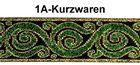 10m Borten Webband 16mm breit Farbe: Grün-Gold