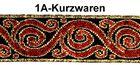 10m Borten Webband Trachten 16mm breit Farbe: Rot-Gold