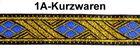 10m TrachtenBorte Webband 16mm breit Farbe: Blau-Gold
