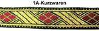 10m TrachtenBorte Webband 33mm breit Farbe: Rot-Gold