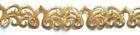 4m Goldbortenapplikation 30mm breit Farbe: Gold