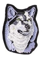 Applikation Patch Scrap-Tex Hund / Wolf 7 x 9,5 cm