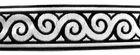 1m Mittelalter Borte Webband 70mm Farbe: Schwarz-Silber