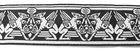 10m Mittelalter Borte Webband 33mm breit Farbe: Schwarz-Grau