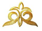 1 Stück Applikationen Farbe: Gold 9,2 x 7,7cm