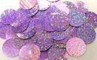 480 Gramm Pailletten-Geld Ø 30mm Farbe: Violett hell