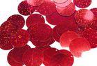 480 Gramm Pailletten-Geld Ø 30mm Farbe: Rot