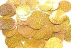 480 Gramm Pailletten-Geld Ø 20mm Farbe: Gold